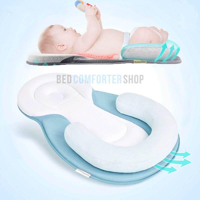 panda portable baby bed blue