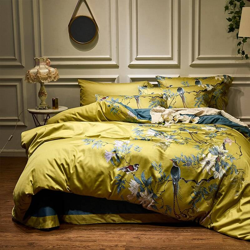 Chinoiserie Silky Soft Bedding Set made from Egyptian Cotton