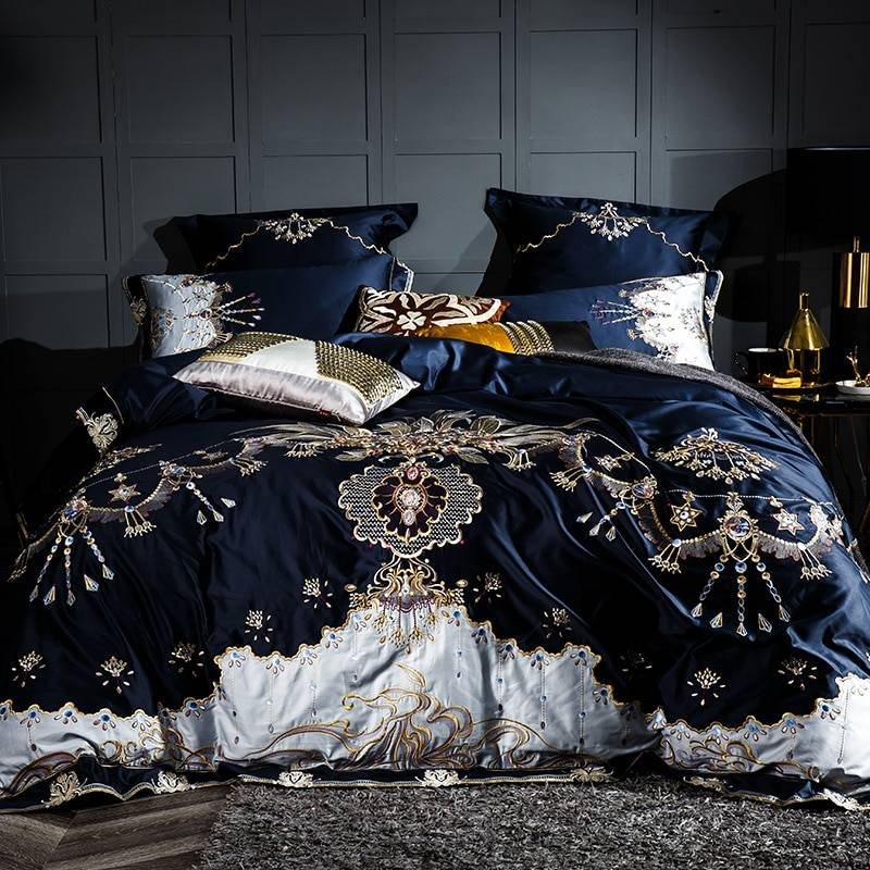 Royal Embroidered Bedding Set 1000TC (Egyptian Cotton)