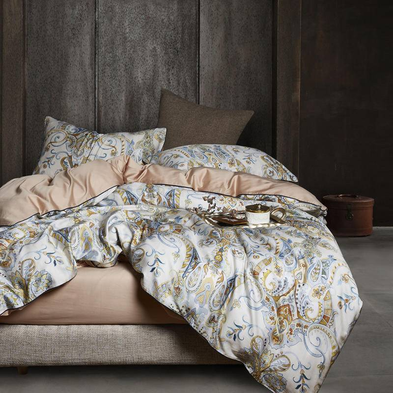 Oriental Jacquard Luxury Duvet Cover Set (Egyptian Cotton)