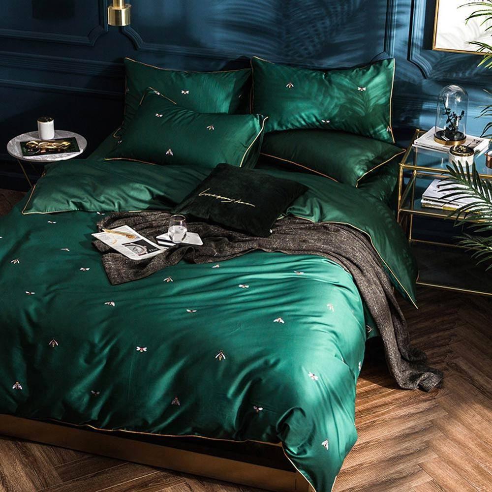 Emerald Forest Satin Duvet Cover (Egyptian Cotton)