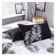Nordic Black and White Palm Tree Bedding Sheet