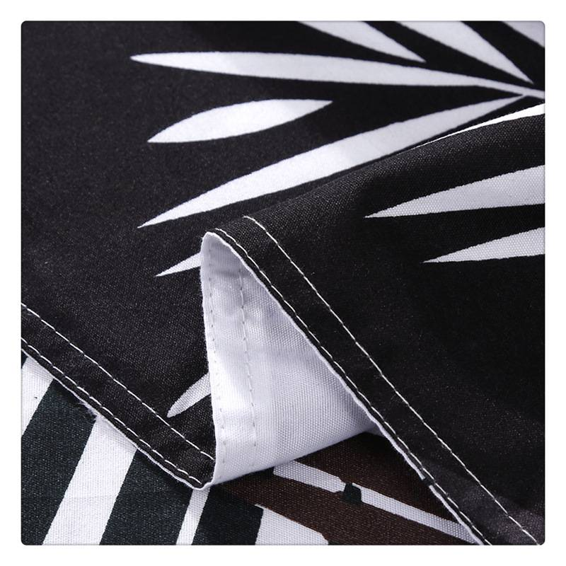 Nordic Black and White Palm Tree Duvet Cover