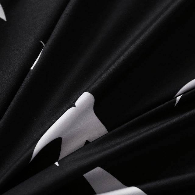 Black and White Geometric Duvet Cover Bedding Set