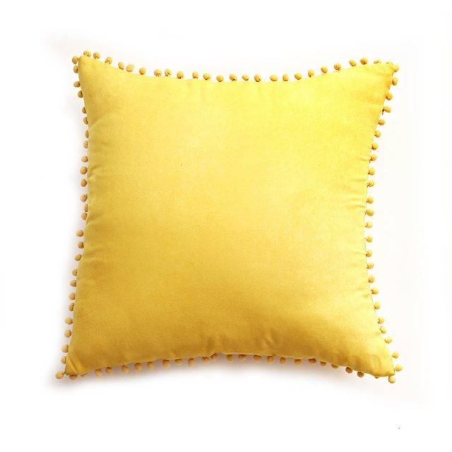 Pom Pom Decorative Lace Cushion Cover