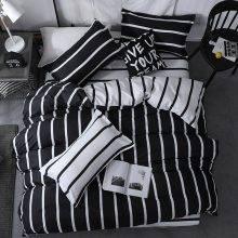Black and White Striped Duvet Cover Black and White Duvet Cover