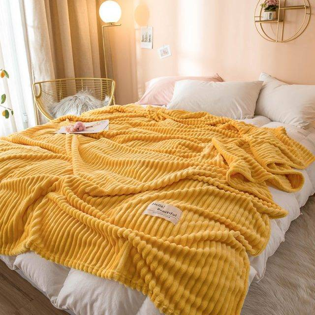 Soft Flanel Throw Blanket (9 Solid Colors)