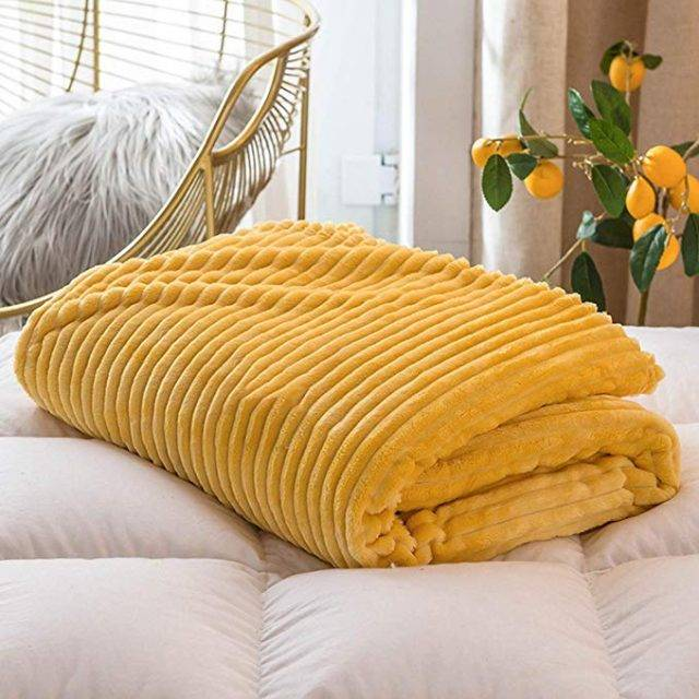 flanel throw blanket folded