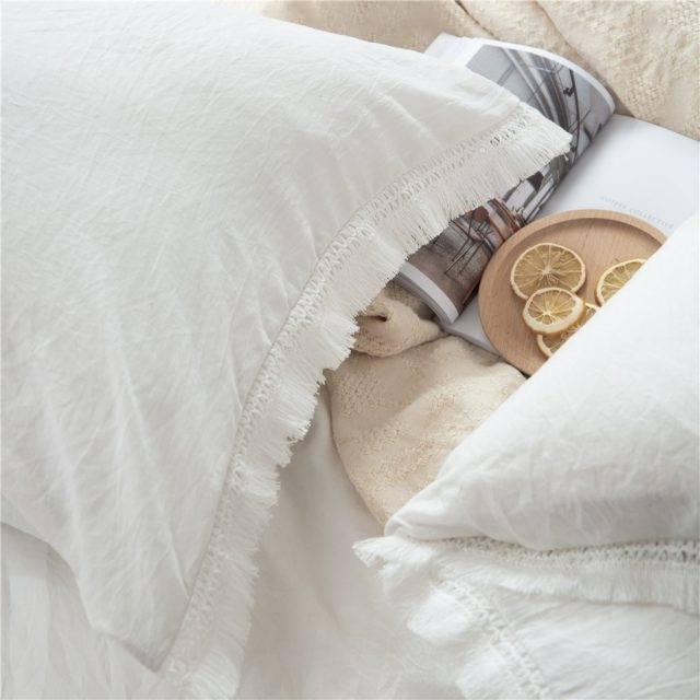 Fringed Tassel Duvet Cover (2 colors)