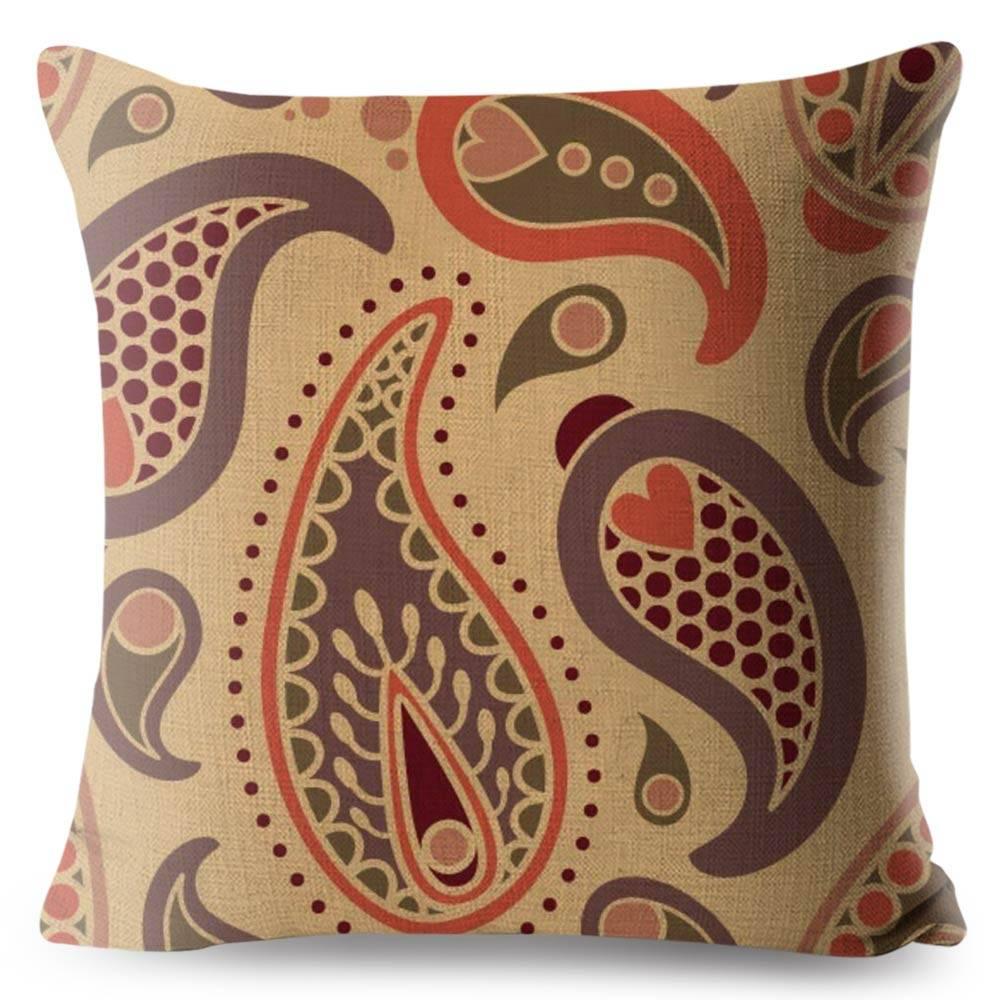 bohemian brown paisley pillowcase