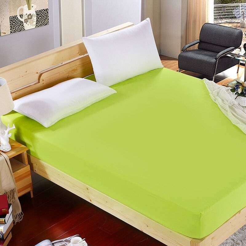 Spring Green Fitted Sheet Made from Soft Micro Polyester With Four Elastic Corners